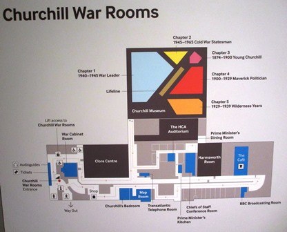 Cabinet de guerre de Churchill : Plan du site