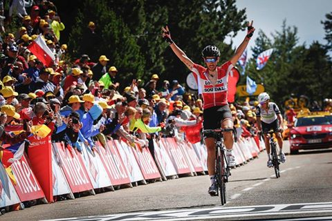 Thomas de Gendt vainqueur au Mont Ventoux, Froome à pied ! ©A.Vialatte - A.S.O.