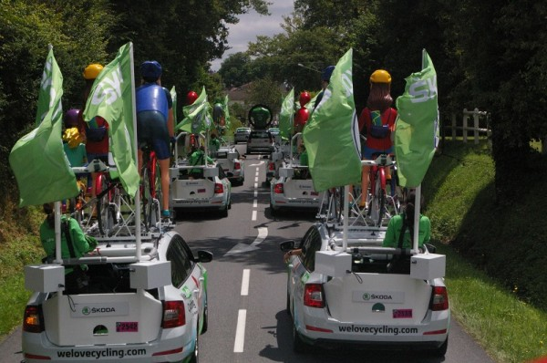 Tour de France La Team ŠKODA avec We Love Cycling