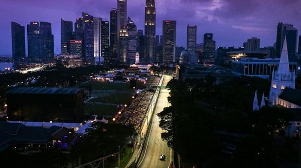 Circuit de Singapour de nuit