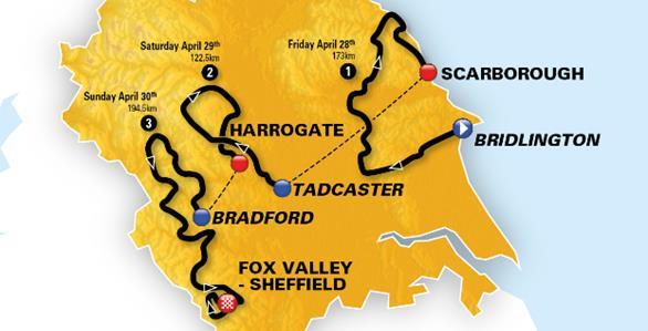 Parcours du Tour de Yorkshire 2017