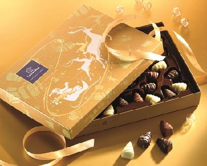 boite doree chocolat noel leonidas