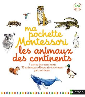 ma pochette montessori les animaux des continents