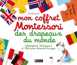 mon coffret Montessori drapeaux monde