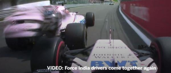 formule 1 GP Belgique Ocon Perez