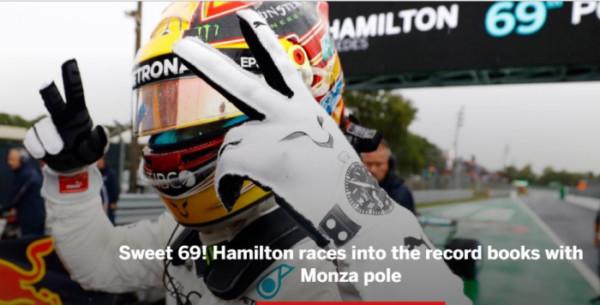 Formule 1 Lewis Hamilton Italie