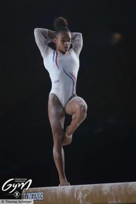 Mélanie dos santos poutre mondiaux de gym 2017