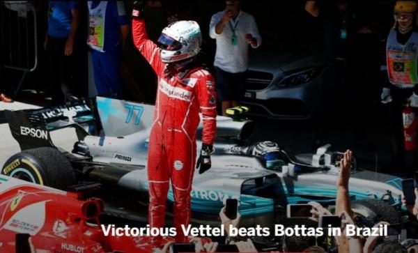 formule GP brésil 2017 Vettel