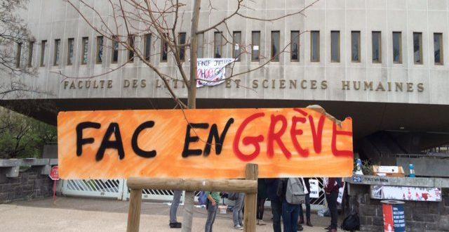 """Résultat de recherche d'images pour """"universite en grève"""""""