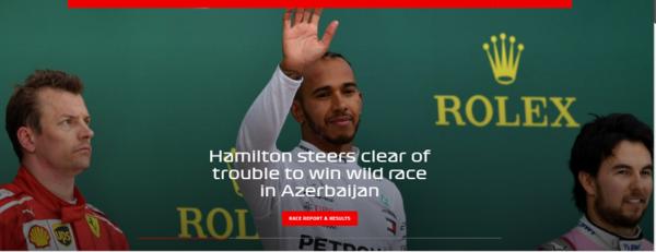 formule 1 GP azerbaijan podium