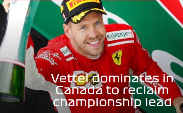 Formule 1 Canada Vettel