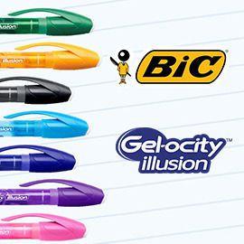 Bic Gel-ocity illusion