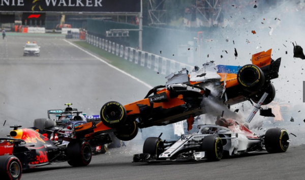 Formule 1 Grand Prix Belgique accident 1T