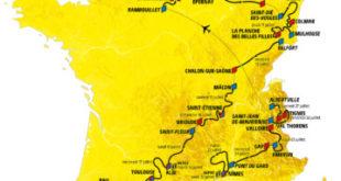 Carte tour de France 2019