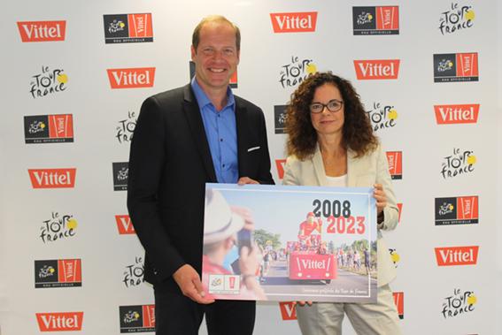 Vittel repart sur les routes du Tour de France jusqu'en 2023