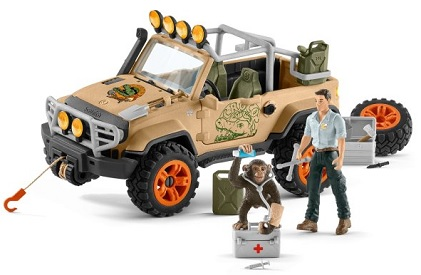 schleich-wild-life-figurine-tout-terrain-ranger-chimpanze-contenu