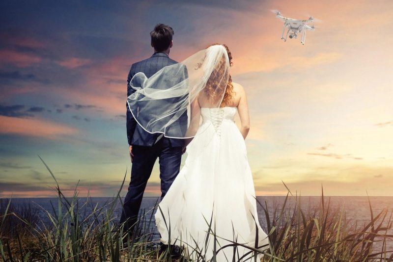 film de mariage en drone