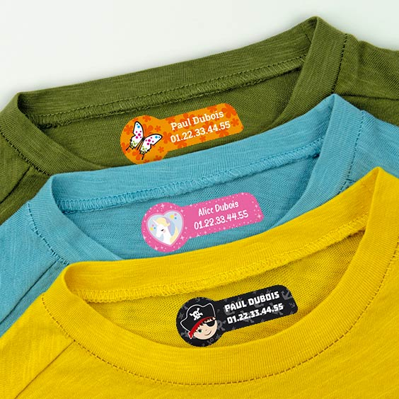 étiquettes thermocollantes