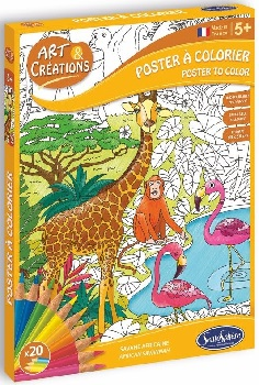 poster-a-colorier-géant-indéchirable-savane-africaine-sentosphere