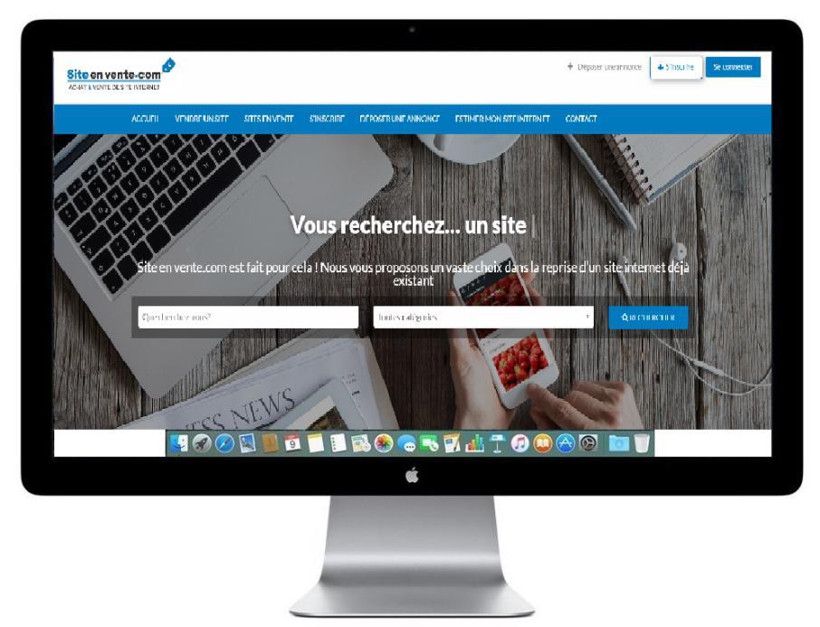 Site-en-vente.com, la plateforme pour acheter ou vendre un site internet en activité