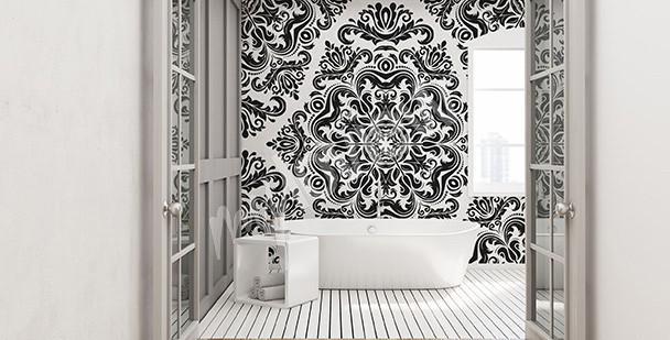Salle de bain moderne - quoi au lieu du carrelage sur les murs -
