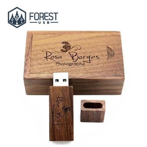cles USB unique en bois