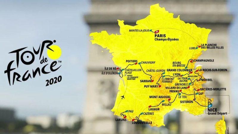 carte_tour_de_France 2020 reporté