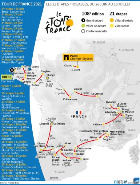 Carte Tour de France 2021