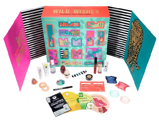 calendrier-avent-2020-beaute-sephora-collection-wild-wishes-ouvert