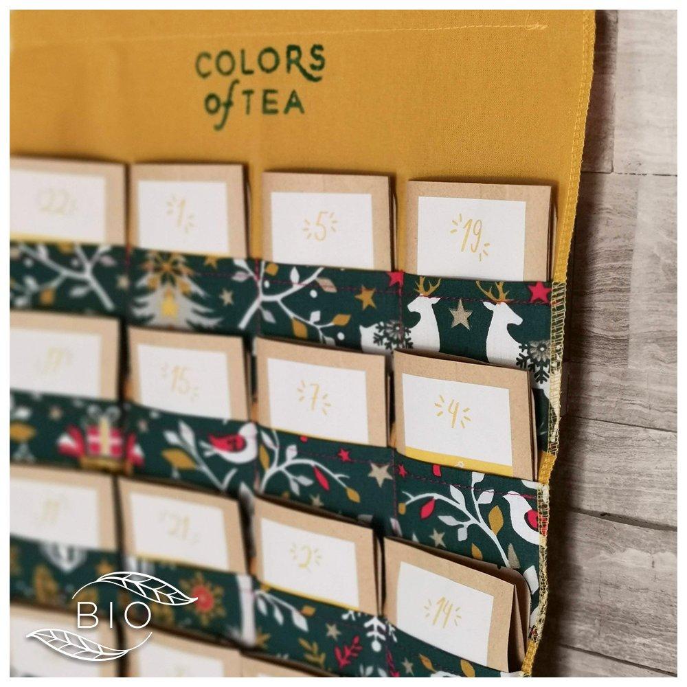 calendrier de l'avent colors of tea