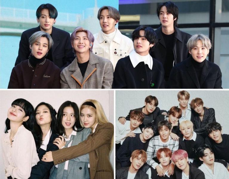 Groupes de K-pop - BTS - Blackpink - Seventeen