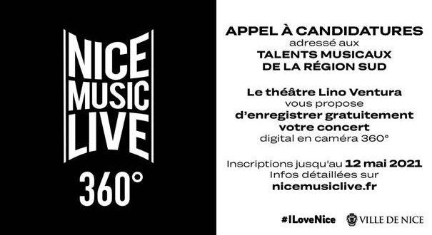 Le Festival Nice Music Live 360° lance un appel à candidatures aux musiciens de la région Sud