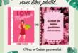 Carnet personnalisable Love Maman et Bonne fête Maman
