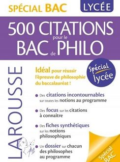 Spécial BAC – 500 citations pour le BAC